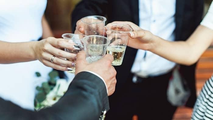 self serve bar at wedding